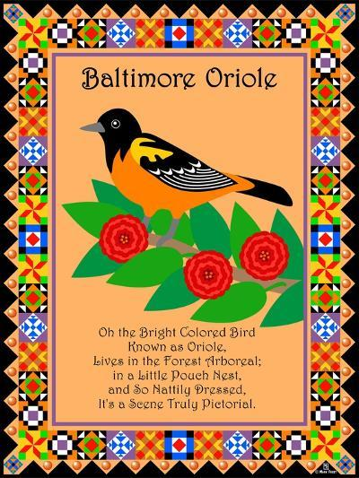Baltimore Oriole Quilt-Mark Frost-Giclee Print