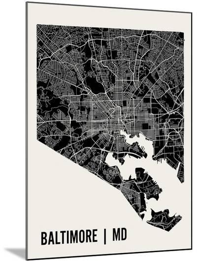 Baltimore-Mr City Printing-Mounted Print