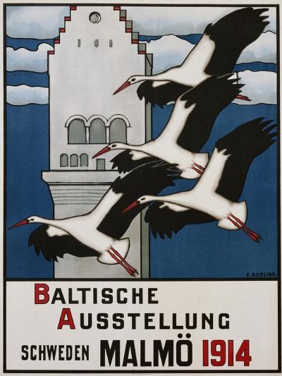 Baltische Ausstellung - Schweden Malmo Travel Poster-Ernst Norlind-Giclee Print