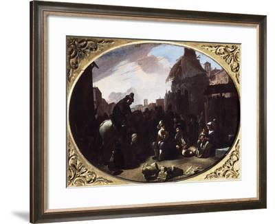 Bambocciata, Tooth Puller in Piazza Navona-Johannes Lingelbach-Framed Giclee Print