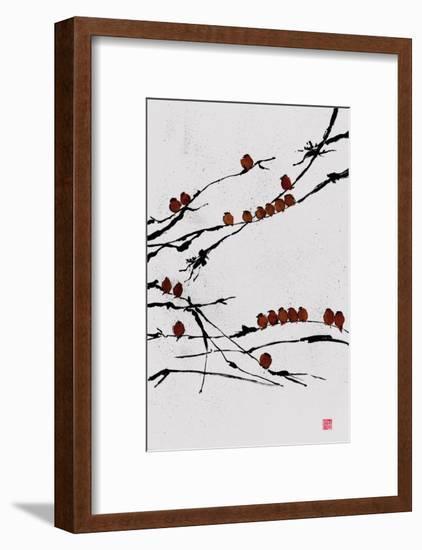 Bamboo Chorus-Jenny Tsang-Framed Premium Giclee Print