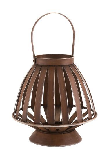 Bamboo Lantern Brown--Home Accessories