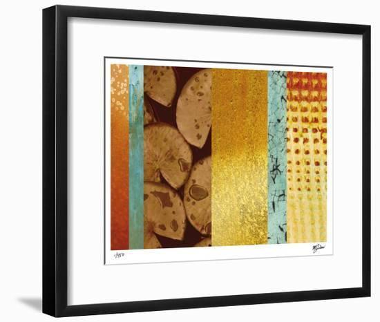 Bamboo & Lilies II-Mj Lew-Framed Giclee Print