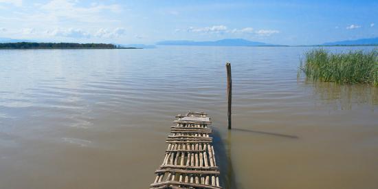 Bamboo raft on Lake Shalla, Abijatta-Shalla Lakes National Park, Ethiopia  Photographic Print by Keren Su | Art com