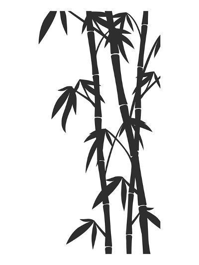 Bamboo Stems Ink Sketch--Art Print
