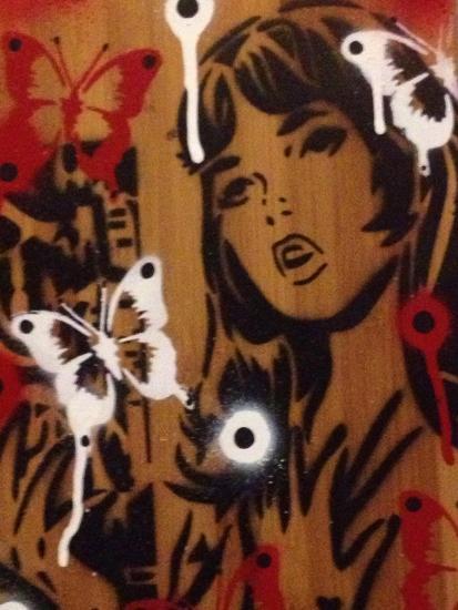 Bamboo-Abstract Graffiti-Giclee Print
