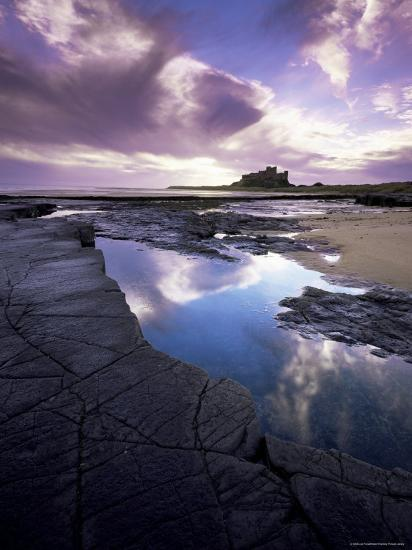 Bamburgh Castle at Dawn, Northumberland, England, United Kingdom, Europe-Lee Frost-Photographic Print
