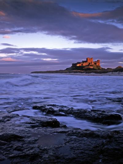 Bamburgh Castle at Dusk, Northumberland, England-Gary Cook-Photographic Print