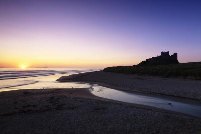 Bamburgh Castle at Sunrise, Bamburgh, Northumberland, England, United Kingdom, Europe-Markus Lange-Photographic Print