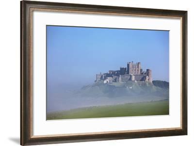 Bamburgh Castle in the Fog; Bamburgh Northumberland England-Design Pics Inc-Framed Photographic Print