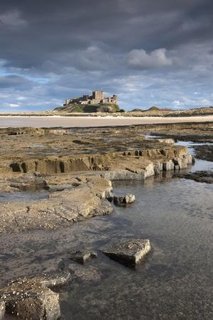 Bamburgh, Northumberland, England; Bamburgh Castle in the Distance-Design Pics Inc-Photographic Print