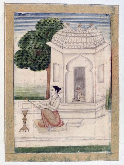 Bamgali Ragini, Ragamala Album, School of Rajasthan, 19th Century--Giclee Print