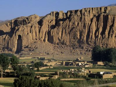 Bamiyan Valley, Showing the Large Buddha, Circa 5th Century, Afghanistan-Antonia Tozer-Photographic Print