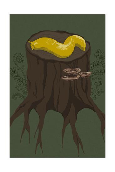 Banana Slug-Lantern Press-Art Print
