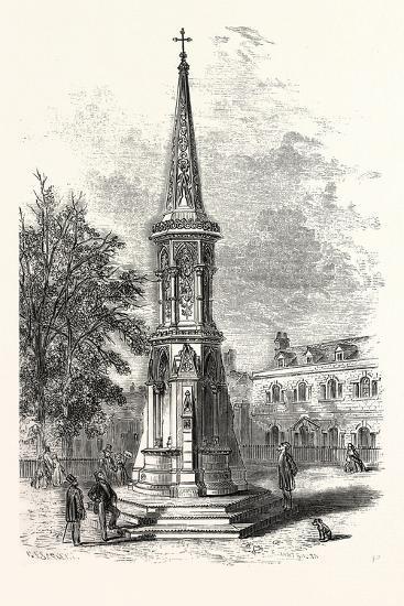 Banbury Cross, Memorial Cross Erected in Honour of the Marriage of the Princess Royal. Uk--Giclee Print