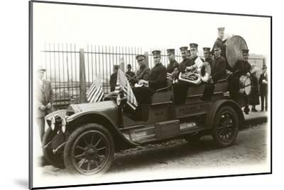 Band in Old Car--Mounted Art Print