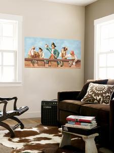 Band Of Pirates Huge Mural Art Print Poster