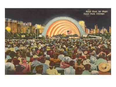 Band Shell by Night, Grant Park, Chicago, Illinois--Art Print