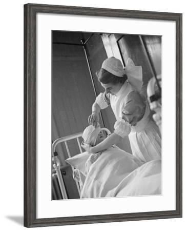 Bandage Practice--Framed Photographic Print
