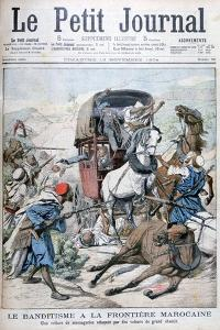 Bandits Attacking a Mail Coach on the Moroccan Frontier, 1904