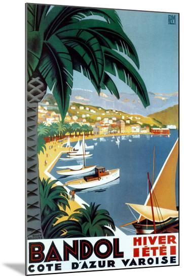 Bandol Hiver Ete-Roger Broders-Mounted Print