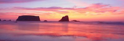 Bandon Beach at Sunset, Oregon--Photographic Print