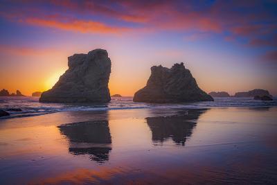 Bandon Sunset-Darren White Photography-Photographic Print