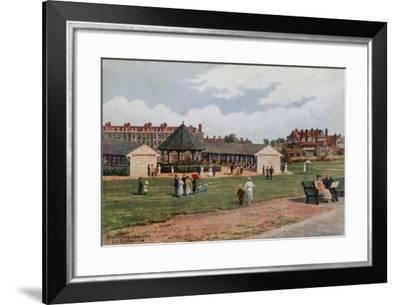 Bandstand and Shelter, Littlehampton-Alfred Robert Quinton-Framed Giclee Print