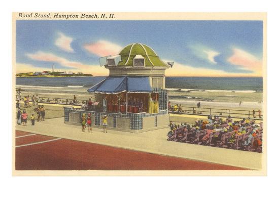 Bandstand, Hampton Beach, New Hampshire--Art Print