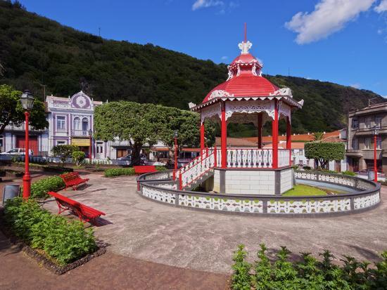 Bandstand in Jardim da Republica, Velas, Sao Jorge Island, Azores, Portugal, Atlantic, Europe-Karol Kozlowski-Photographic Print