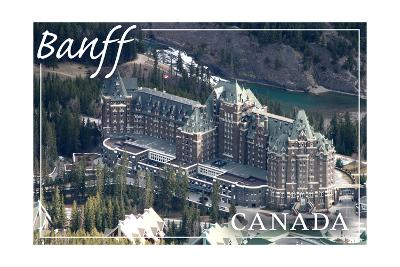 Banff, Canada - Banff Springs Hotel-Lantern Press-Art Print