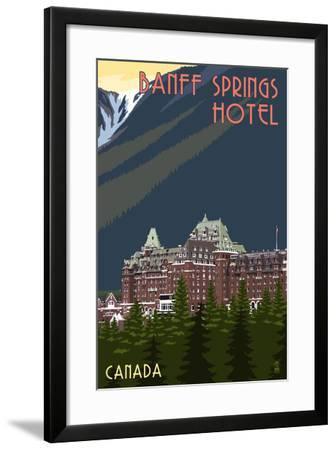 Banff, Canada - Banff Springs Hotel-Lantern Press-Framed Art Print