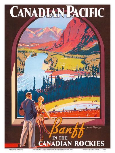 Banff in the Canadian Rockies - Lake Louise, Banff National Park - Canadian Pacific Railway Company-James Crockart-Art Print