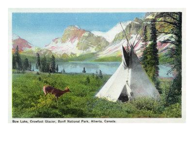 https://imgc.artprintimages.com/img/print/banff-national-park-alberta-view-of-bow-lake-and-crowfoot-glacier-doe-and-teepee_u-l-q1goawr0.jpg?p=0