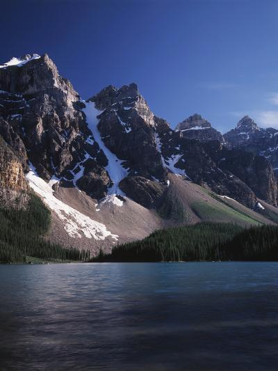 Banff National Park, Mountain Peaks and the Glacial Water of Moraine Lake-Christopher Talbot Frank-Photographic Print