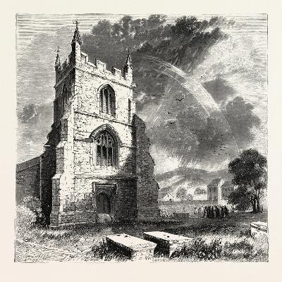 Bangor Cathedral. Bangor Cathedral Is an Ancient Place of Christian Worship Situated in Bangor--Giclee Print