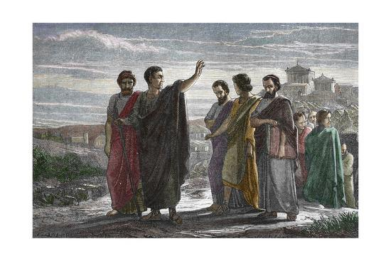 Banishment of Greek Philosopher Aristotle from Athens in 323 BC--Giclee Print