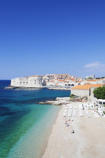 Banje Beach, Old Harbour and Old Town, UNESCO World Heritage Site-Markus Lange-Photographic Print