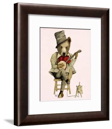 Banjo Bear-Fab Funky-Framed Art Print