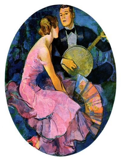 """Banjo Serenade,""April 11, 1931-John LaGatta-Giclee Print"