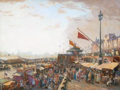 Bank Holiday, Brighton-Charles Cundall-Giclee Print