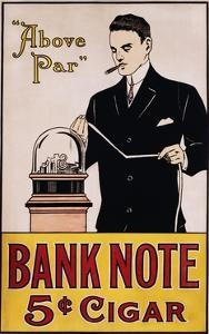 Bank Note 5 Cent Cigar Poster