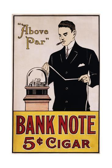 Bank Note 5 Cent Cigar Poster--Giclee Print