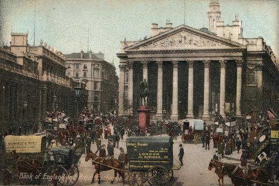 'Bank of England and Royal Exchange', c1910-Unknown-Giclee Print