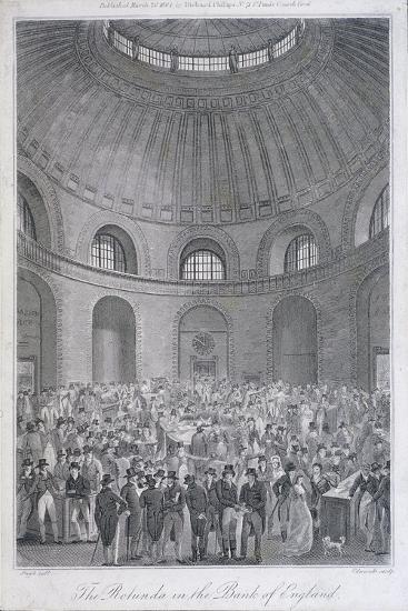 Bank of England, Threadneedle Street, London, 1804-E Edwards-Giclee Print