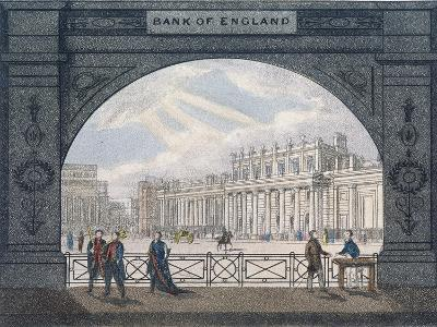 Bank of England, Threadneedle Street, London, C1820--Giclee Print