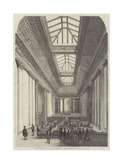 Bank of London, Head Office, Threadneedle-Street--Giclee Print