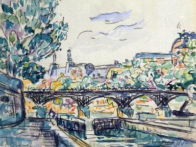 Bank of the Seine Near the Pont Des Arts with a View of the Louvre, Early 20th Century-Paul Signac-Giclee Print