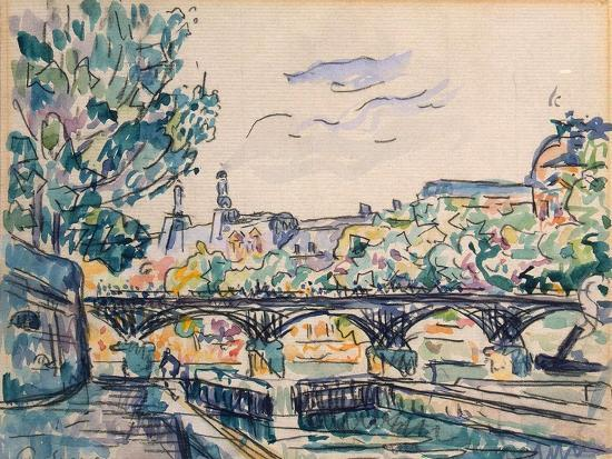 Bank of the Seine Near the Pont Des Arts, with a View of the Louvre-Paul Signac-Giclee Print