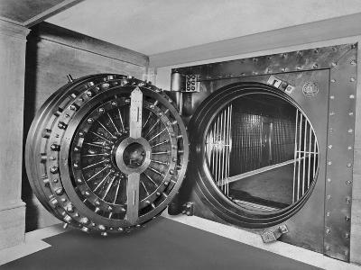 Bank Vault of Midland Bank--Photographic Print